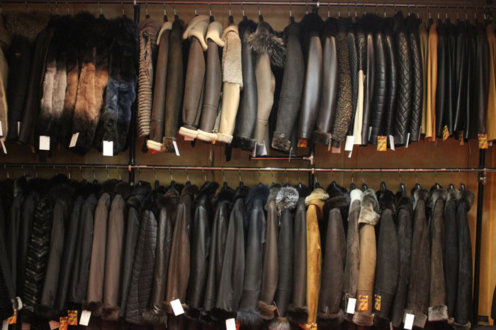 manteaux en cuirs